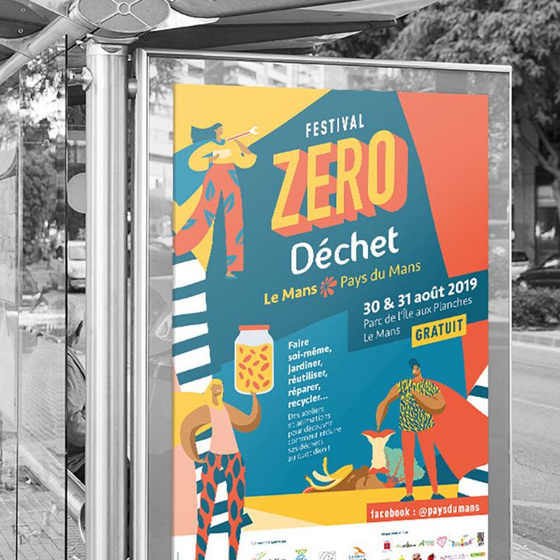 Affiche festival zéro déchet