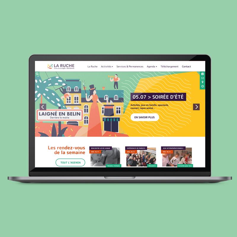 Site internet centre social LA RUCHE