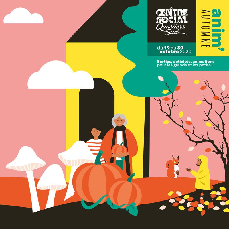 Dépliant vacances automne 2020 centre social des quartiers sud du Mans