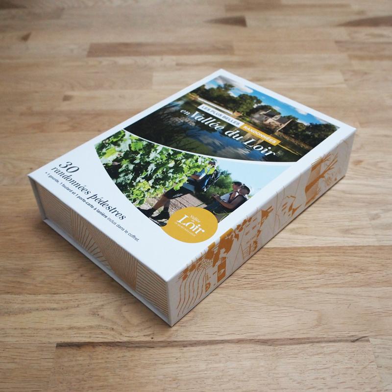 Création coffret tourisme randonnées Vallée du Loir