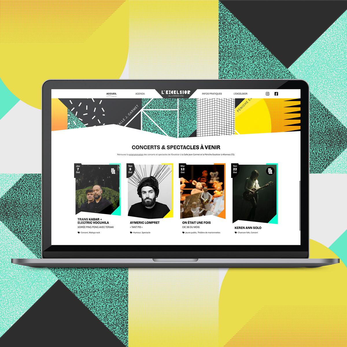 Création site internet salle de concerts L'Excelsior